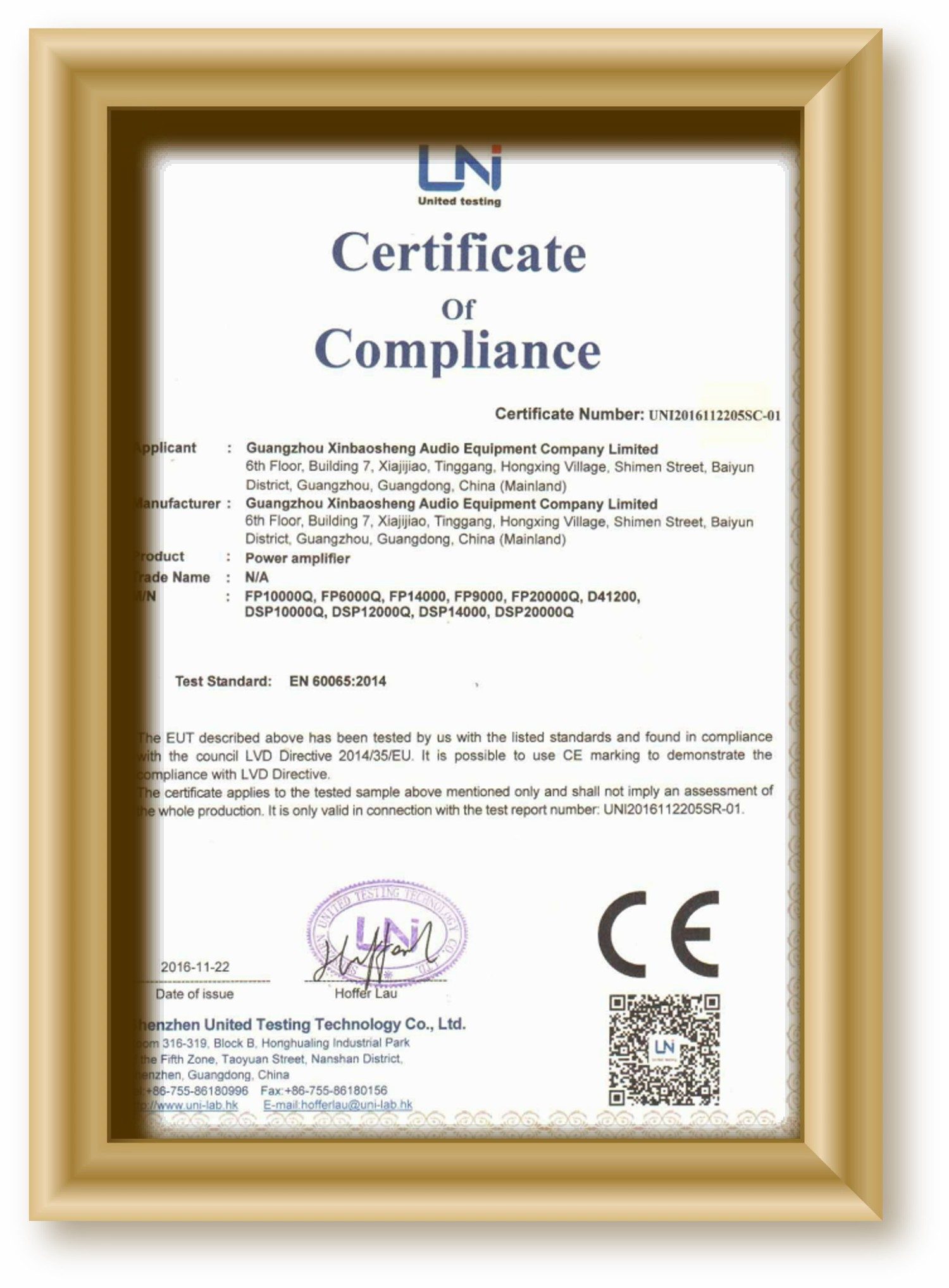 Our Products are approved by CE and ROHS, TUV