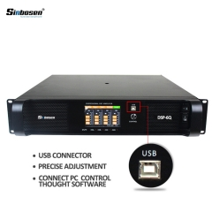 Sinbosen DSP6000Q 1300w 4 channel professional power DSP amplifier
