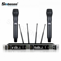 Sinbosen AXT200S condenser UHF dual channel handheld digital wireless microphone