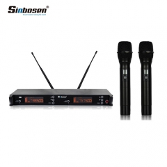 Sinbosen double channel high quality professional handheld wireless microphone SU-39