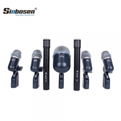 Sinbosen 7 Piece Drum microphone kit BETADMK7-XLR professional wired dj microphone