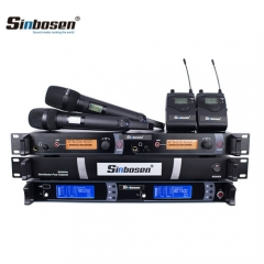Sinbosen New Group Hg-890 Antenna Amplifier Sr2050 in Ear Monitor Skm9000 Wireless Microphone for Stage Equipment