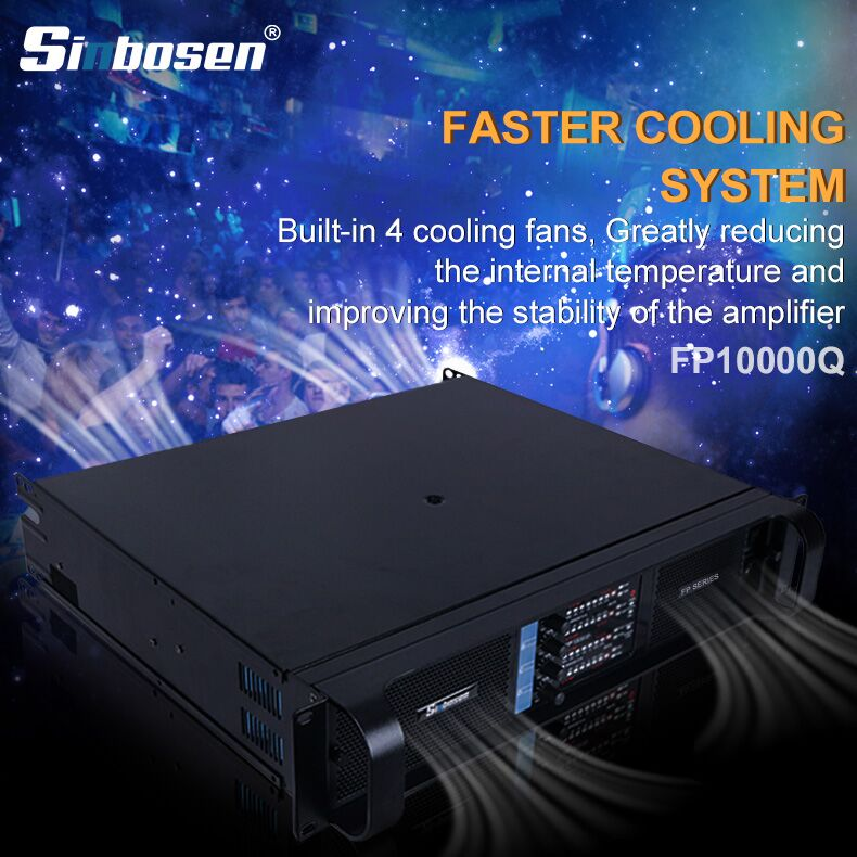 Why sound engineer and DJ recommend Sinbosen FP10000Q amplifier?