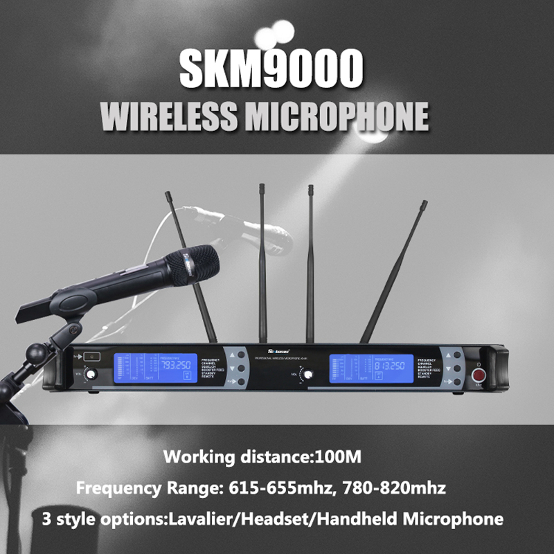 Your stage is up to you! SKM9000 wireless microphone brings real vocals!