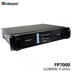 Sinbosen FP7000 2 channel 5000 watts dj power amplifier
