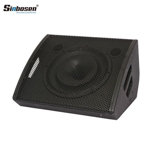 How are stage monitor speakers combined and returned?