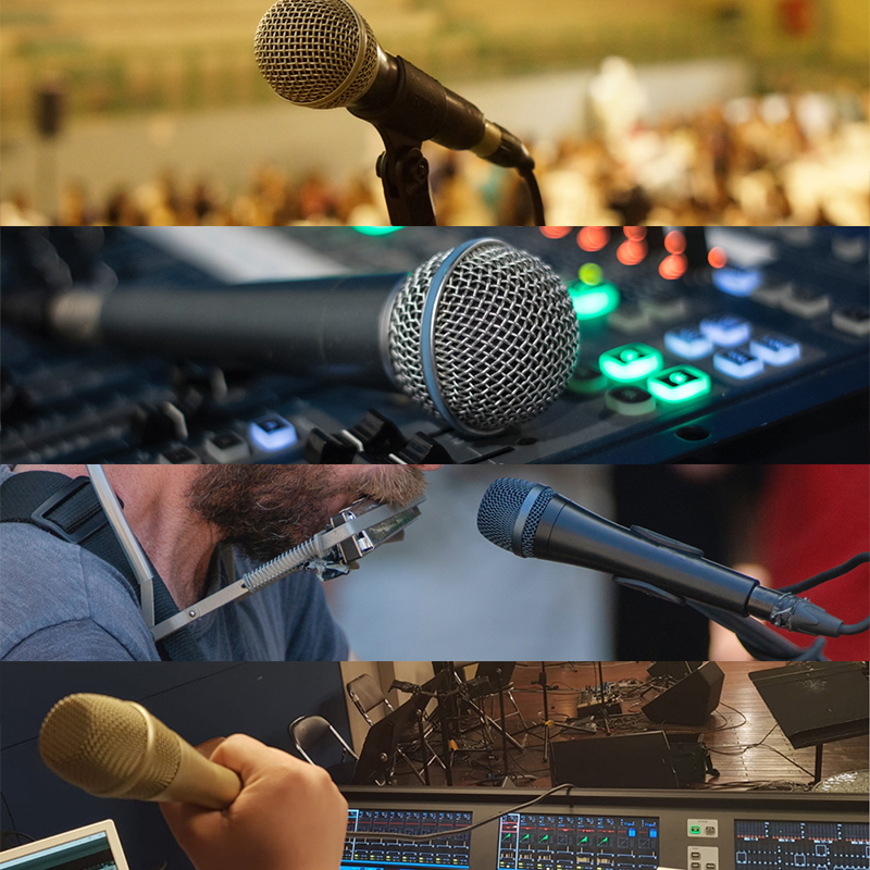 5 wired dynamic microphones are perfect for vocal recording and live singing!