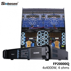 Hot sale Sinbosen 4000 Watt FP20000Q power amplifier price for dual best 18 inch subwoofer