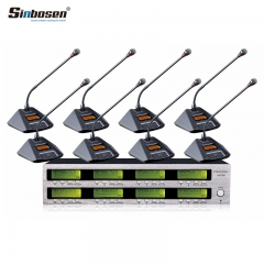 Sinbosen Wireless Microphone Conference System At880 Gooseneck Wireless Microphone for Meeting