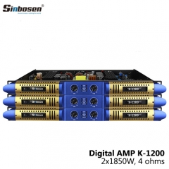 Sinbosen K-1200 1200W 1U class D 2 channel digital amplifier