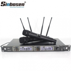 615MHz-655MHz Wireless Microphone Ad4d Professional Stage Karaoke Microphone with 2 Handheld Microphone
