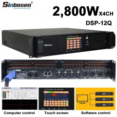 Sinbosen DSP12000Q 1500w 4 channel high quality professional power amplifier
