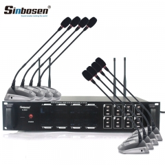 Sinbosen UHF wireless conference microphone S-800 1 for 8 professional desktop handheld gooseneck microphone