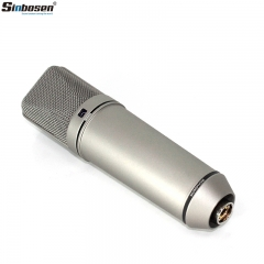Sinbosen microphone omnidirectional cardioid 8-shaped U87 live broadcast studio recording condenser microphone