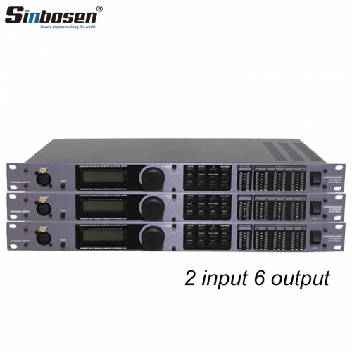 Sinbosen DBX PA 2 in 6 out of professional digital audio processor