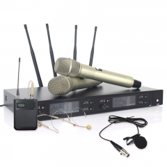 Sinbosen wireless digital microphone sound system AXT220D with headset lavalier mcirophone
