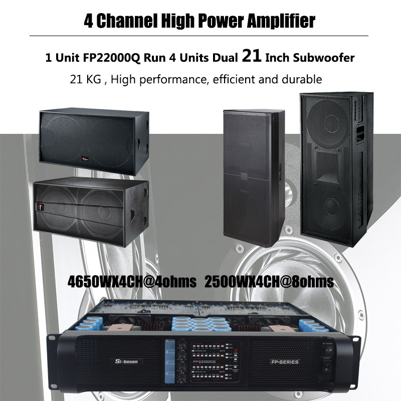 4 Dual 18 inch Subwoofer S-218+ Testing with FP20000Q FP22000Q Sinbosenaudio Power Amplifier