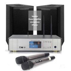 Sinbosen home audio sound system amplifier 450w with microphone effector dj amplifier and speaker